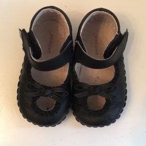Pediped Black Mary Janes 12-18 mo